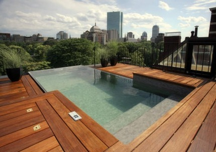 Boston Rooftop Infinity Edge Pool