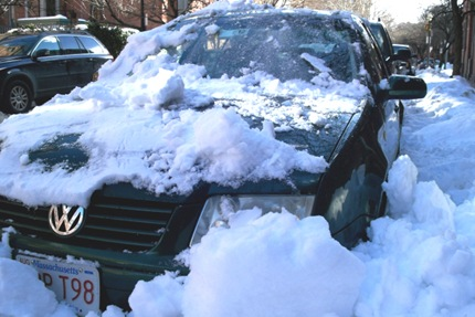 Snowed In Boston Parking Spot