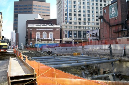 Boston W Hotel Construction Site - January 2008