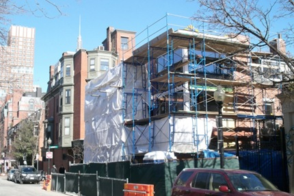 Current Construction at Clarendon & Lawrence South End