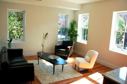 655 Tremont Street Living Room