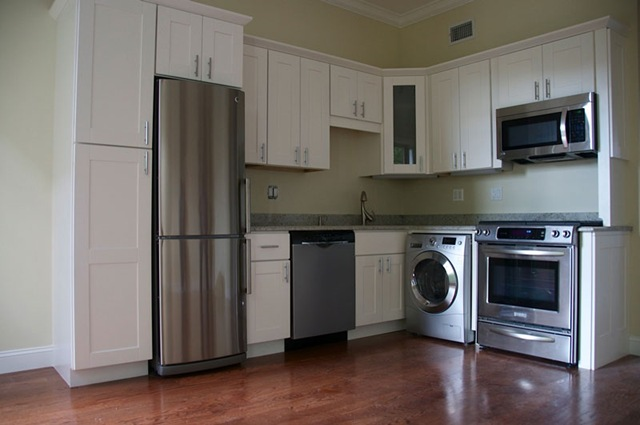 Nice Original Under Counter Washer U0026 Dryer Cabinet According Inspiration  Article. South End Condo One Bedroom